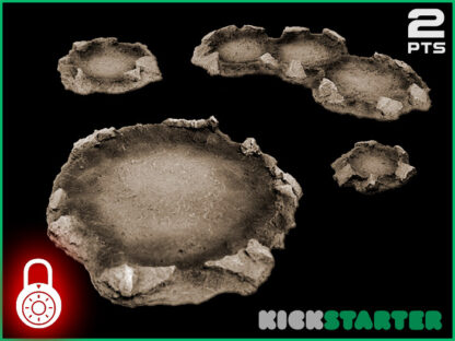 Craters - Wargame Terrain