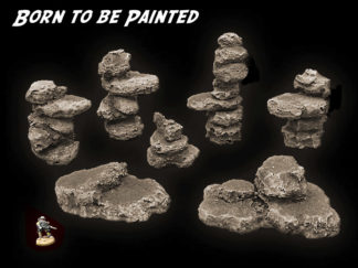 Rock Formations - Wargame Scenery