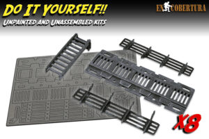 Ladder and catwalk wargame scenery Laser Cut DIY