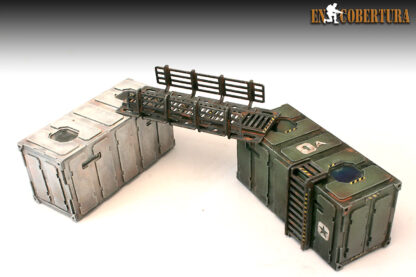 Containers Ladder and catwalk wargame scenery AT-43