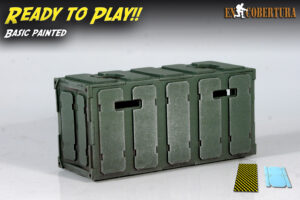 Armoured Container Army Green Pro Painted Ready to Play