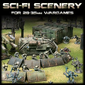 Sci-Fi 28mm Wargame Scenery
