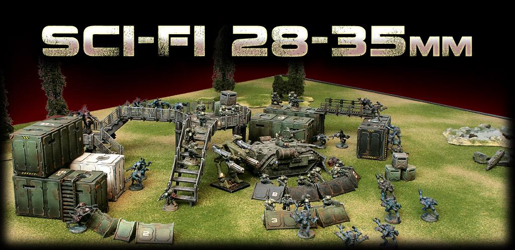 Sci-Fi 28mm Wargame Scenery