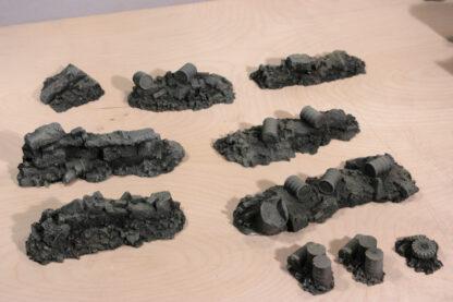 Escenograía de escombros para Warhammer 40.000