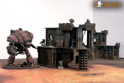 Imperial knight Magaera on Warhammer 40.000 scenery on lava 120x180 terrain pic2