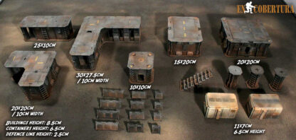 28mm Sci-Fi wargames Scenery Buildings for Warhammer 40.000 and others
