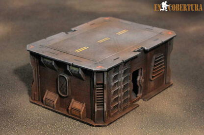 15x20cm Sci-Fi building for Warhammer 40.000 and Sci-Fi wargames