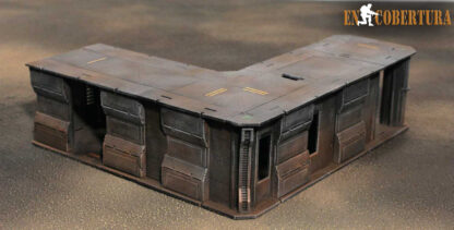 30x27.5cm (L) Sci-Fi building for Warhammer 40.000 and Sci-Fi wargames