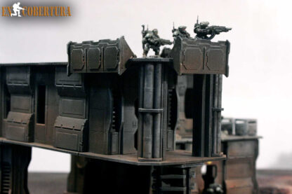 28mm Sci-fi wargame building for Wh40k pic6