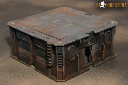 20x20cm Sci-Fi building for Warhammer 40.000 and Sci-Fi wargames pic2