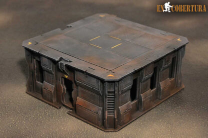 20x20cm Sci-Fi building for Warhammer 40.000 and Sci-Fi wargames