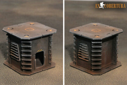 10x10cm Sci-Fi building for Warhammer 40.000 and Sci-Fi wargames