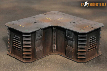 20x20cm (L) Sci-Fi building for Warhammer 40.000 and Sci-Fi wargames pic2