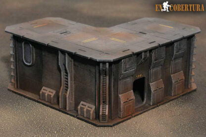 20x20cm (L) Sci-Fi building for Warhammer 40.000 and Sci-Fi wargames