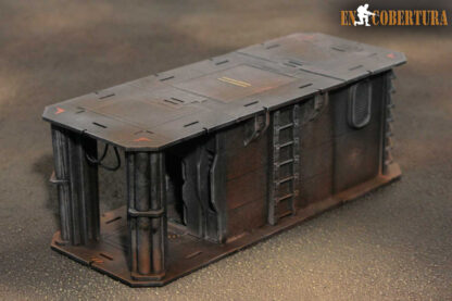 25x10cm Sci-Fi building for Warhammer 40.000 and Sci-Fi wargames pic2