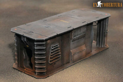 25x10cm Sci-Fi building for Warhammer 40.000 and Sci-Fi wargames