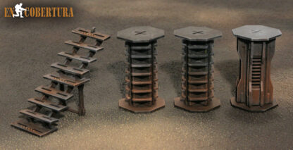 28mm Sci-Fi pillars for Warhammer 40.000