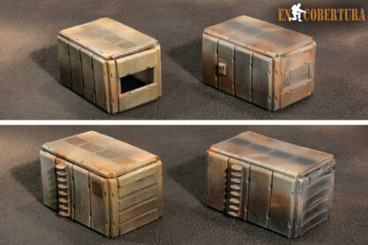 28mm Sci-Fi armoured containers for Warhammer 40.000