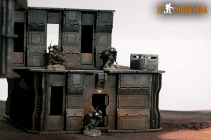 28mm Sci-fi wargame building for Wh40k pic5