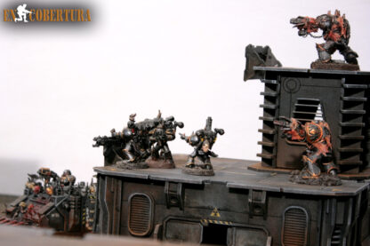 Chaos Space Marines Havocs on Sci-fi buildings