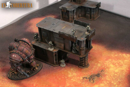 Imperial knight on Warhammer 40.000 scenery on lava 120x180 terrain pic1