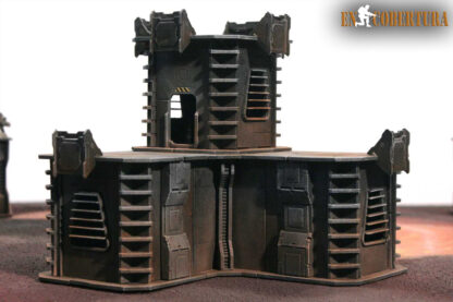28mm Sci-fi wargame building for Wh40k pic2