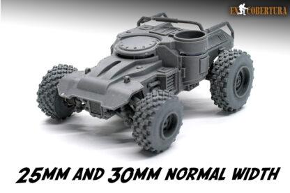 Front ridgerunner 25mm and 30mm wheels