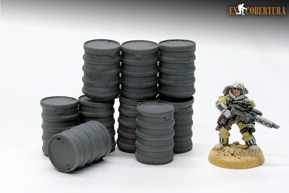 Resin drums wargame terrain