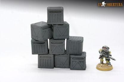 Resin crates wargame terrain