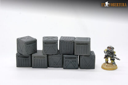 Resin crates wargame scenery