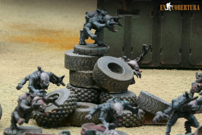 Terreno de Pilas de neumáticos