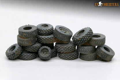 Tyres stacked resin terrain