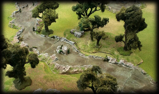 Modular river scenery