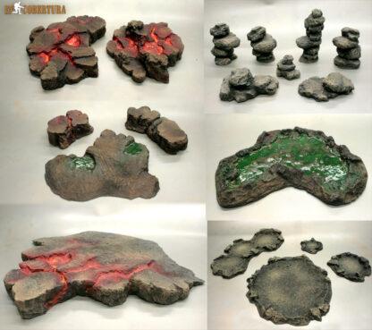 Volcanic terrain set