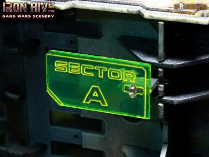 Laser cut Sector Signals transparent plastic
